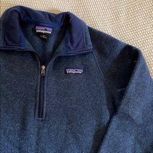 Patagonia Better Sweater Navy Half Zip